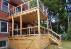 Patio en bois deux étages
